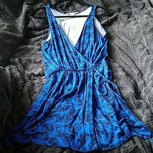 Diane Von Furstenburg blue tie dress 10